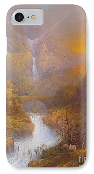 The Road To Rivendell The Lord Of The Rings Tolkien Inspired Art  IPhone Case by Joe  Gilronan
