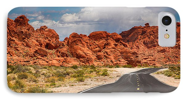 The Road To The Valley Of Fire IPhone Case by Jane Rix