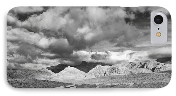 The Road To Turtlehead Peak Las Vegas Strip Nevada Red Rock Canyon Mojave Desert Phone Case by Silvio Ligutti