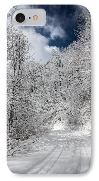 The Road To Winter Wonderland Phone Case by John Haldane