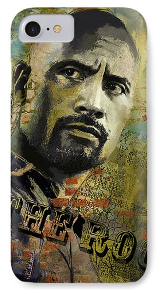 The Rock IPhone Case by Corporate Art Task Force
