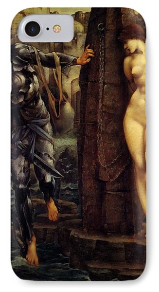 The Rock Of Doom IPhone Case by Edward Burne Jones