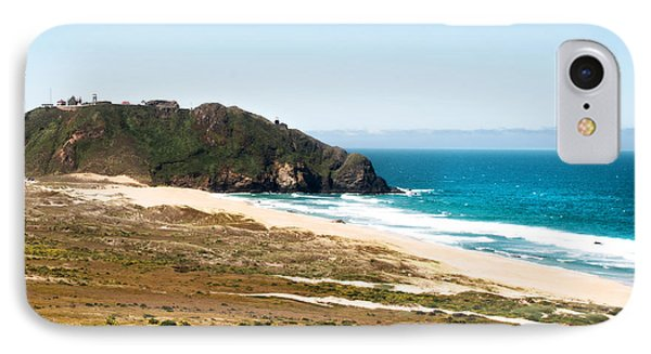 The Rock Of Piedras Blancas Lighthouse In San Simeon Ca Phone Case by Artist and Photographer Laura Wrede