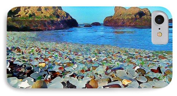 Glass Beach In Cali IPhone Case by Catherine Lott