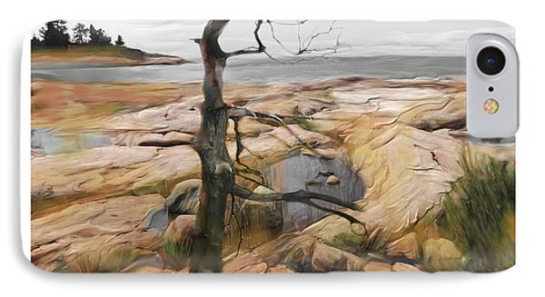 IPhone Case featuring the painting The Rocks Of The Bay by Bob Salo