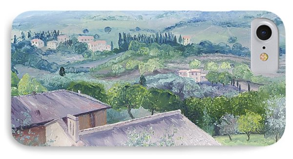 The Rolling Hills Of Tuscany IPhone Case by Jan Matson