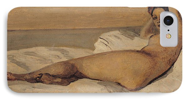 The Roman Odalisque Phone Case by Jean Baptiste Camille Corot