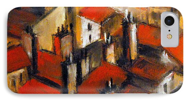 The Roofs Of Lyon IPhone Case by Mona Edulesco
