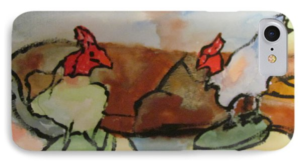 IPhone Case featuring the painting The Roosters by Shea Holliman