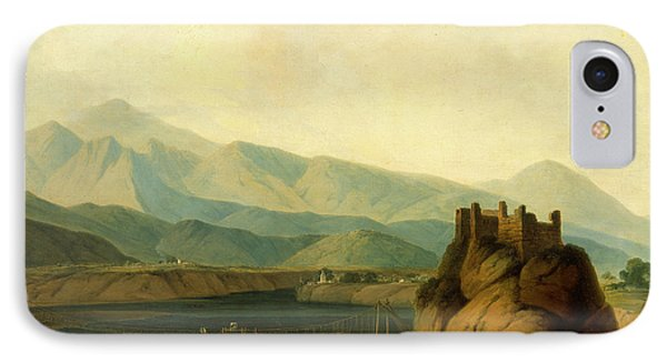 The Rope Bridge At Serinagur, Thomas Daniell IPhone Case by Litz Collection