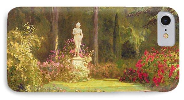 The Rose Garden IPhone Case by John Arthur Black