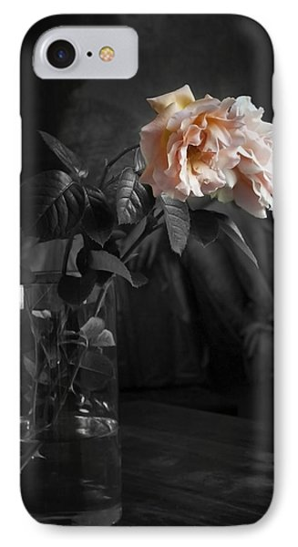 The Rose Grew Pale And Left Her Cheek Phone Case by Theresa Tahara