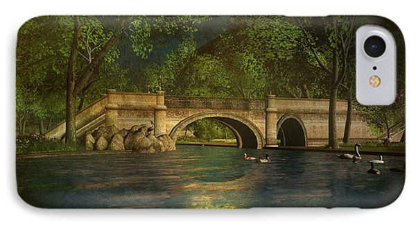The Rose Pond Bridge 06301302 - By Kylie Sabra IPhone Case by Kylie Sabra
