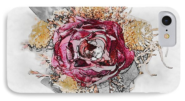 The Rose Phone Case by Susan Leggett