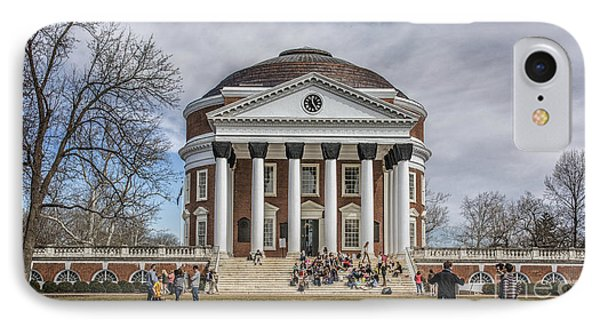 The University Of Virginia Rotunda IPhone Case by Terry Rowe