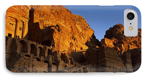 The Royal Tombs At Petra, Wadi Musa IPhone Case by Panoramic Images