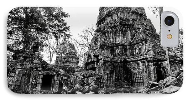 The Ruins At Ta Prohm IPhone Case by Julian Cook