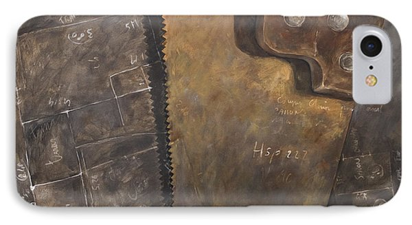 The Rusty Saw And The Buildingplans Phone Case by Anke Classen