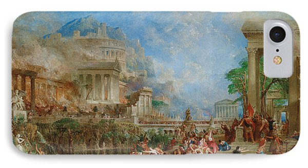 The Sack Of Corinth IPhone Case by Thomas Allom