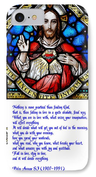The Sacred Heart And The Arrupe Prayer IPhone Case