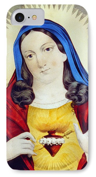 The Sacred Heart Of Mary Phone Case by Bill Cannon