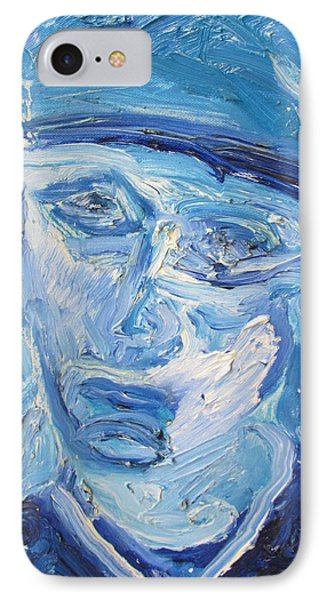 IPhone Case featuring the painting The Sad Man by Shea Holliman