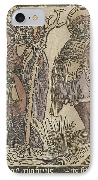 The Saints Christopher And Sebastian IPhone Case