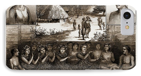 The Samoan Islands, 1881 1. Leumanu, Chief Of Apia. 2 IPhone Case by Litz Collection