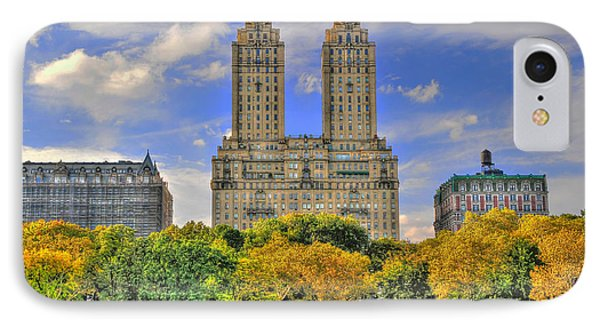 The San Remo Building In Upper West Side Manhattan IPhone Case by Randy Aveille