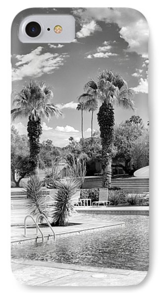 The Sandpiper Pool Bw Palm Desert Phone Case by William Dey