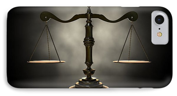 The Scales Of Justice IPhone Case by Allan Swart