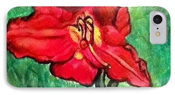 IPhone Case featuring the painting The Scarlet Lily by Kimberlee Baxter