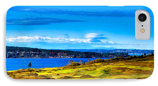 The Scenic Chambers Bay Golf Course Iv - Location Of The 2015 U.s. Open Tournament IPhone Case by David Patterson