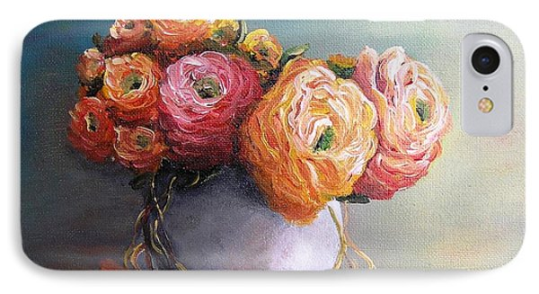 IPhone Case featuring the painting The Scent Of Flowers by Vesna Martinjak