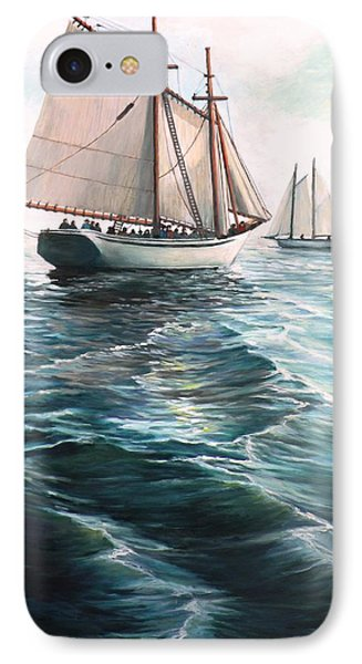The Schooners IPhone Case by Eileen Patten Oliver