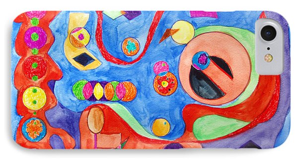 IPhone Case featuring the painting The Science Of Shapes 1 by Esther Newman-Cohen