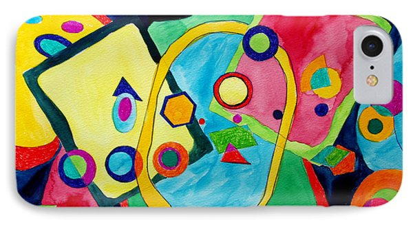 IPhone Case featuring the painting The Science Of Shapes 2 by Esther Newman-Cohen