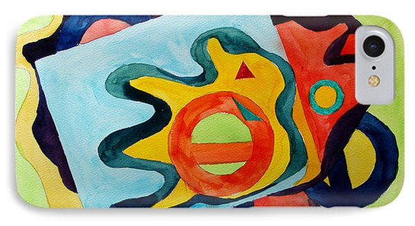 IPhone Case featuring the painting The Science Of Shapes 3 by Esther Newman-Cohen