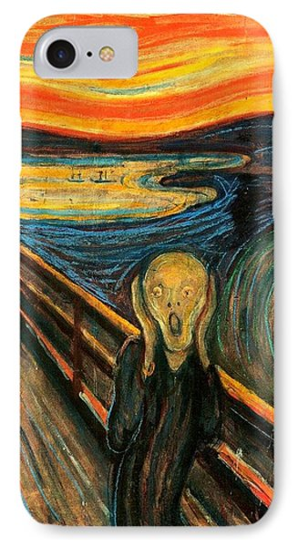 The Scream Edvard Munch 1893                    IPhone Case by Movie Poster Prints