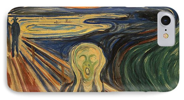 The Scream Edvard Munch 1910 IPhone Case by Movie Poster Prints