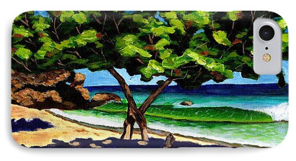 IPhone Case featuring the painting The Sea-grape Tree by Laura Forde