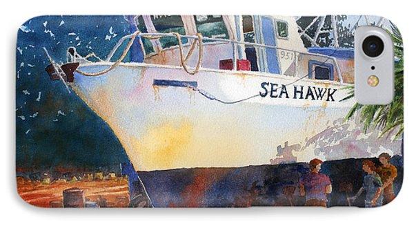 The Sea Hawk In Drydock IPhone Case by Roger Rockefeller