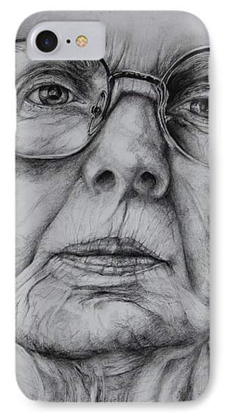 The Seamstress A Drawing IPhone Case by Jean Cormier
