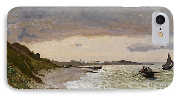 The Seashore At Sainte Adresse Phone Case by Claude Monet