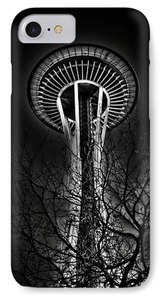 The Seattle Space Needle At Night IPhone Case by David Patterson