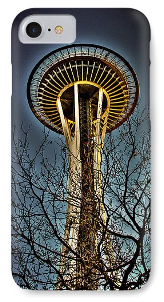 The Seattle Space Needle Iv IPhone Case by David Patterson