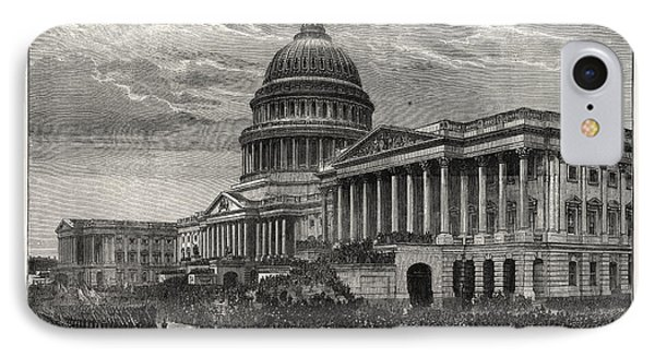 The Second Inauguration Of General Grant As President IPhone Case