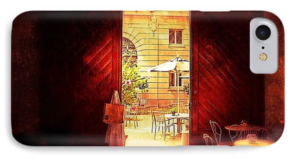IPhone Case featuring the photograph The Secret Courtyard  by Becky Lupe