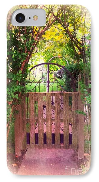 The Secret Gardens Gate IPhone Case by Becky Lupe