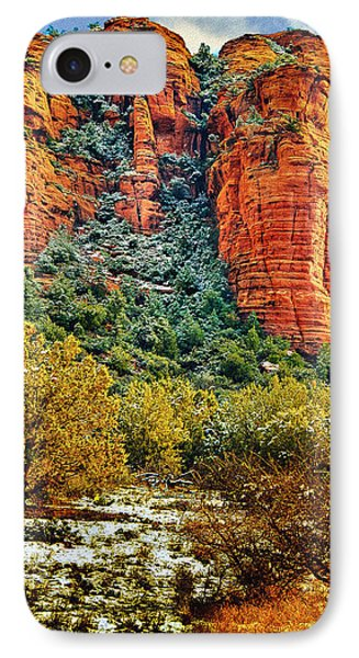 IPhone Case featuring the photograph The Secret Mountain Wilderness In Sedona Back Country by Bob and Nadine Johnston